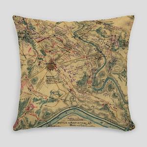 Vintage Antietam Battlefield Map ( Everyday Pillow