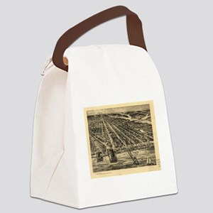Vintage Pictorial Map of Asbury P Canvas Lunch Bag