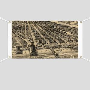 Vintage Pictorial Map of Asbury Park NJ (19 Banner
