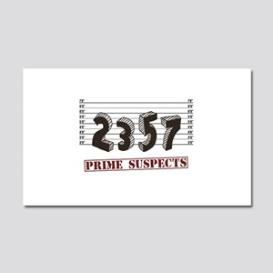 The Prime Number Suspects Car Magnet 20 x 12