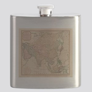 Vintage Map of Asia (1799) Flask