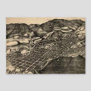 Vintage Pictorial Map of Aspen Colo 5'x7'Area Rug