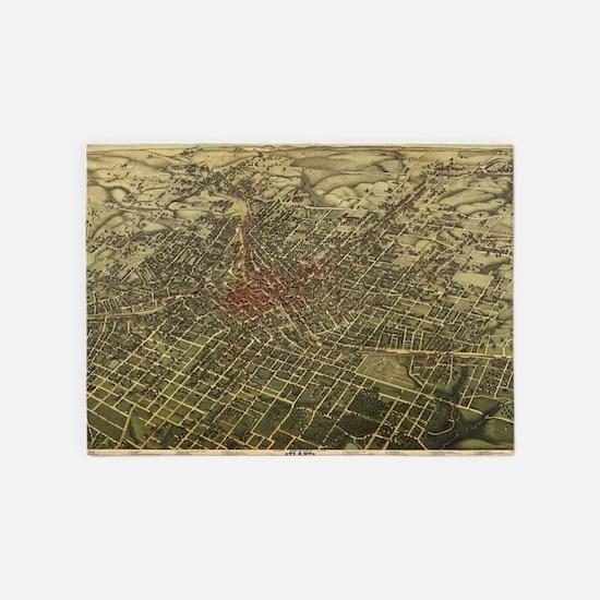 Vintage Map of Atlanta (1892) 5'x7'Area Rug