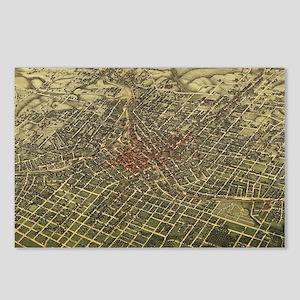 Vintage Map of Atlanta (1 Postcards (Package of 8)