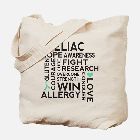Celiac Disease Ribbon Tote Bag