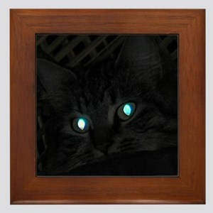 Glowing Eyes Framed Tile