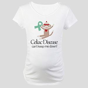 Celiac Disease Ribbon Maternity T-Shirt