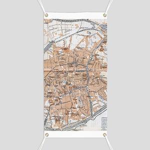 Vintage Map of Bruges (1905) Banner