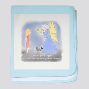 Wishing for Running Shoes baby blanket