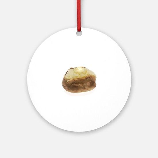 Baked Potato Round Ornament