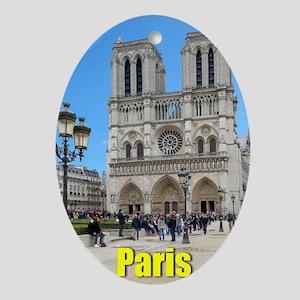 PARIS NOTRE DAME-PARIS GIFT STORE Ornament (Oval)