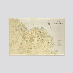 Vintage Map of Bar Harbor Maine ( Rectangle Magnet