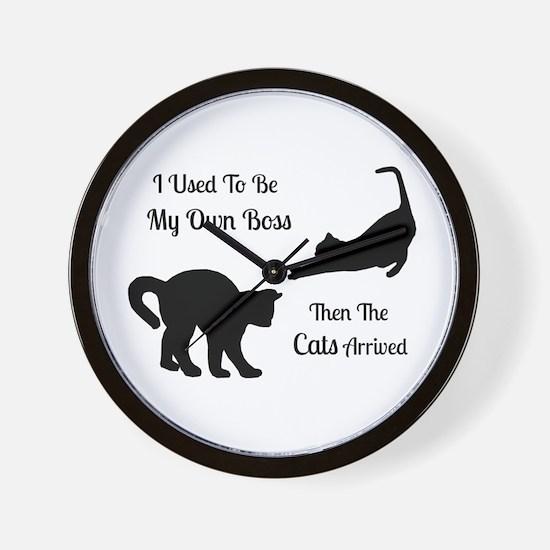 Funny Cat Boss Wall Clock