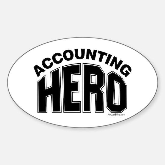 Accounting Hero Sticker (Oval)