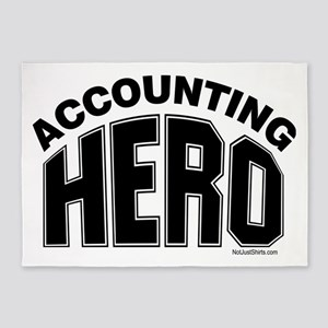 Accounting Hero 5'x7'Area Rug