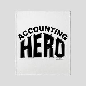 Accounting Hero Throw Blanket