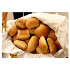 Basket of Dinner Rolls Canvas Art