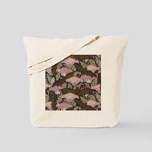 Vintage Art Deco Bat and Flowers Tote Bag