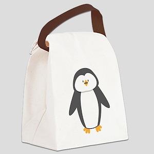 A cute little penguin Canvas Lunch Bag