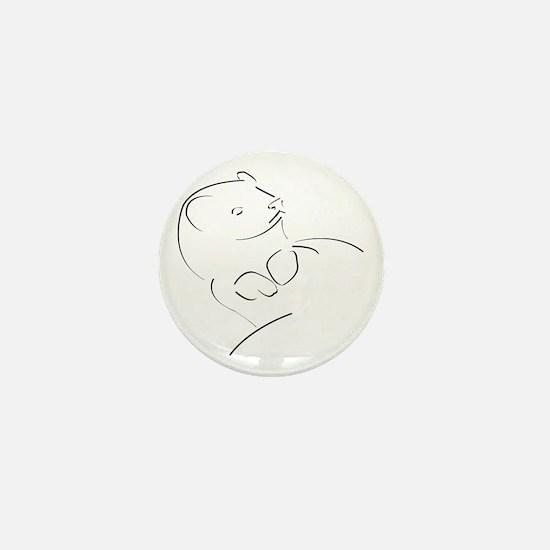 Ferret Outline Mini Button