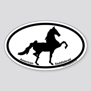 American Saddlebred Oval Euro Sticker