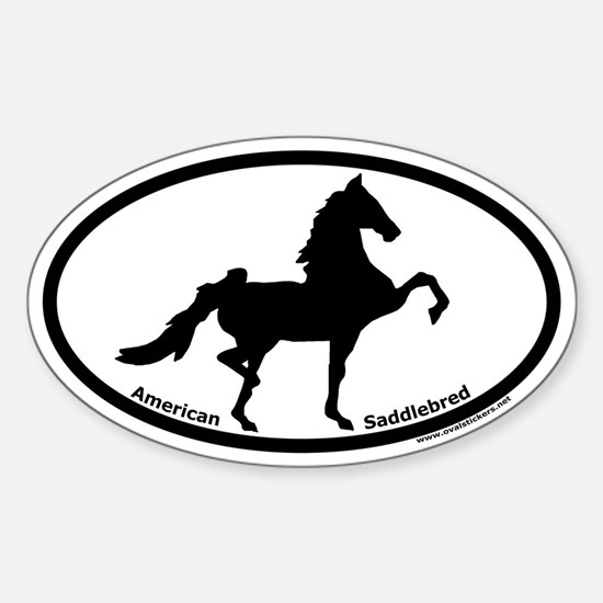American Saddlebred Oval Euro Decal