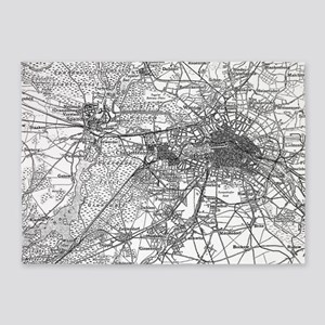 Berlin and Surrounding Areas Map(19 5'x7'Area Rug