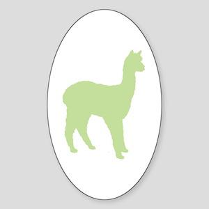Alpaca (#2 in green) Oval Sticker