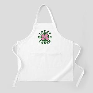 Green / Pink Lucky Charm BBQ Apron
