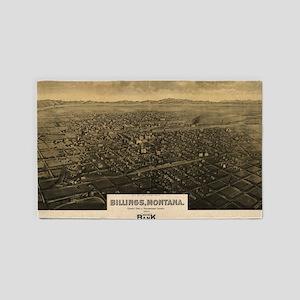 Vintage Pictorial Map of Billings Montana Area Rug