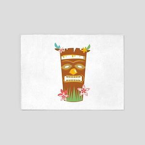 Tropical Tiki Mask 5'x7'Area Rug