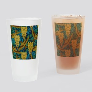 Vintage Art Deco Birds and Leaves Drinking Glass