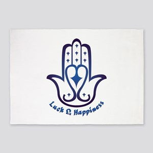 Luck & Happiness 5'x7'Area Rug