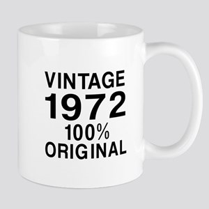Vintage 1972 Birthday Designs Mug