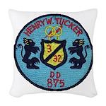USS HENRY W. TUCKER Woven Throw Pillow