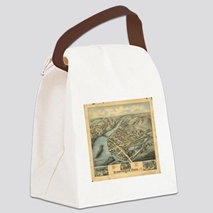 Vintage Pictorial Map of Birmingh Canvas Lunch Bag