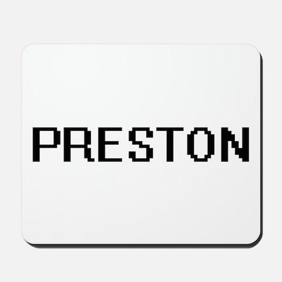 Preston digital retro design Mousepad