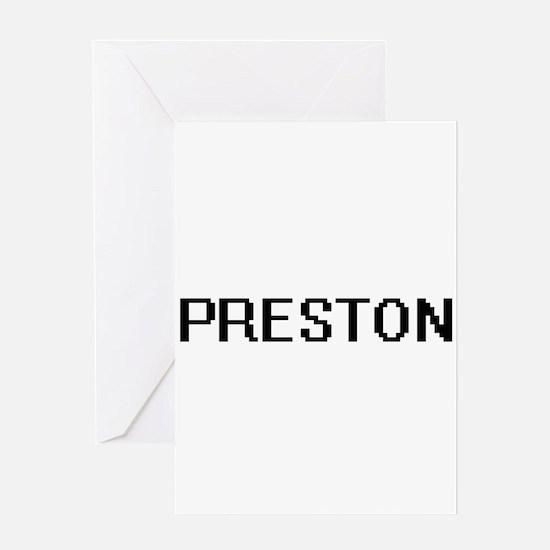 Preston digital retro design Greeting Cards