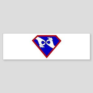 Super ASL Interpreter - Blue Bumper Sticker