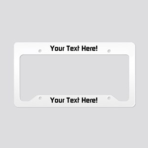 Your Text License Plate Holder