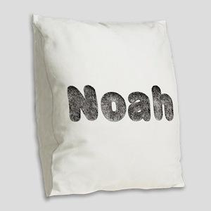 Noah Wolf Burlap Throw Pillow