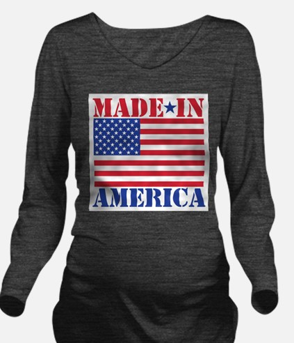 Made in America Long Sleeve Maternity T-Shirt