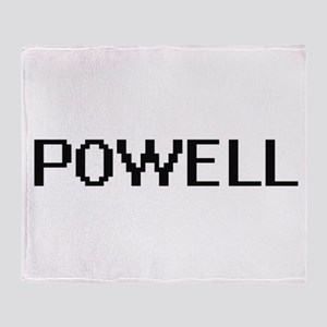 Powell digital retro design Throw Blanket