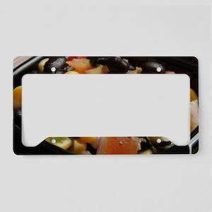 Blackbean and Corn Salad License Plate Holder