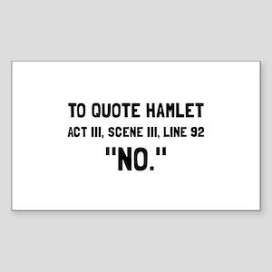 Hamlet Quote Sticker