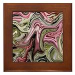 Native American Sage Bloom Framed Tile
