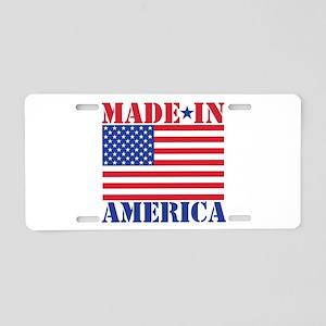 Made in America Aluminum License Plate