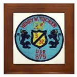 USS HENRY W. TUCKER Framed Tile