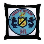 USS HENRY W. TUCKER Throw Pillow