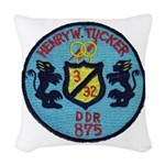 USS HENRY W. TUCKER Woven Throw Pillow